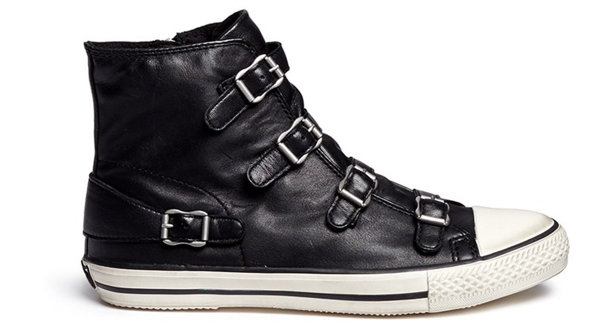 Men S Fashion Sneakers Black High Tops