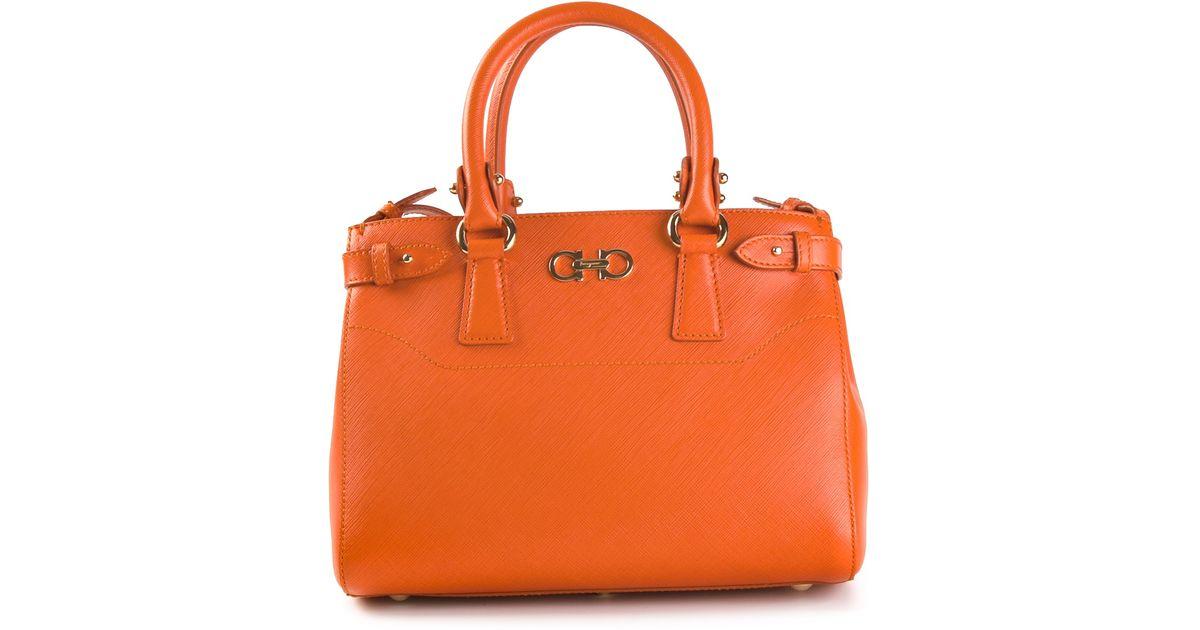 15b59f30dc Lyst - Ferragamo Batik Tote in Orange
