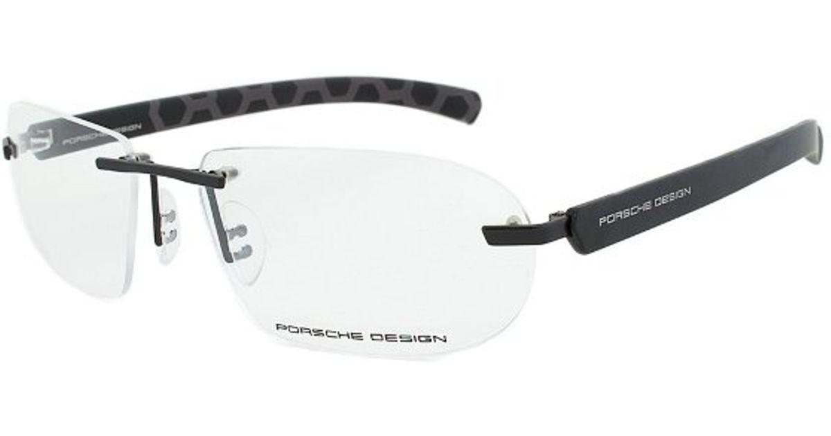 919f102ebbc Porsche Design Design P8202 Eyeglass Frames in Black - Lyst