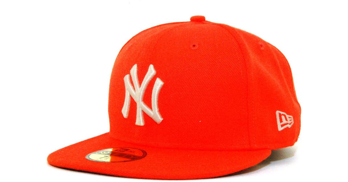 ... 9fifty snapback cap in white for coupon lyst ktz new york yankees c dub  59fifty cap in orange for men 37219 6c566 ... 50d1210880d6
