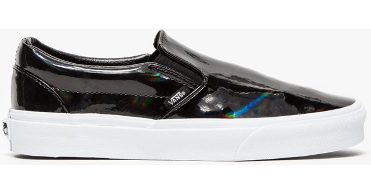 5b983fefa8 Lyst - Vans Classic Slip-On Patent Leather in Black
