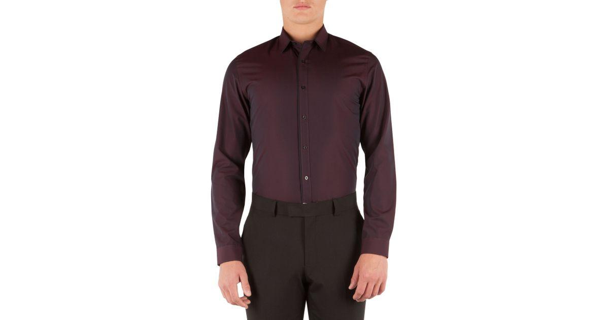 Limehaus Plain Slim Fit Long Sleeve Classic Collar Shirt ...
