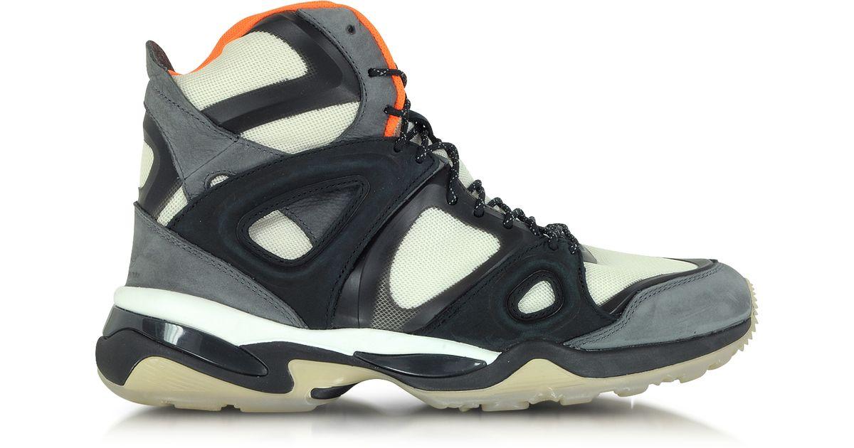 a6474776dc6 Lyst - Alexander McQueen X Puma White Orange And Black Mcq Run Mid Men S  Sneaker in White for Men