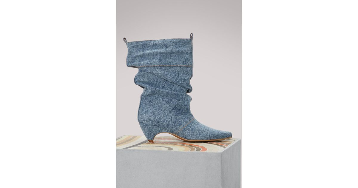 abf2273e05d Lyst - Stella McCartney Denim Boots in Blue - Save 75%