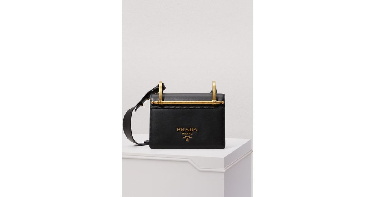 b12f8f9e714b35 Prada Patina Shoulder Bag in Black - Lyst