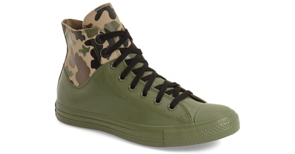 b73c0081dad6 Lyst - Converse Chuck Taylor All Star  camo Rubber  High Top Sneaker in  Green for Men