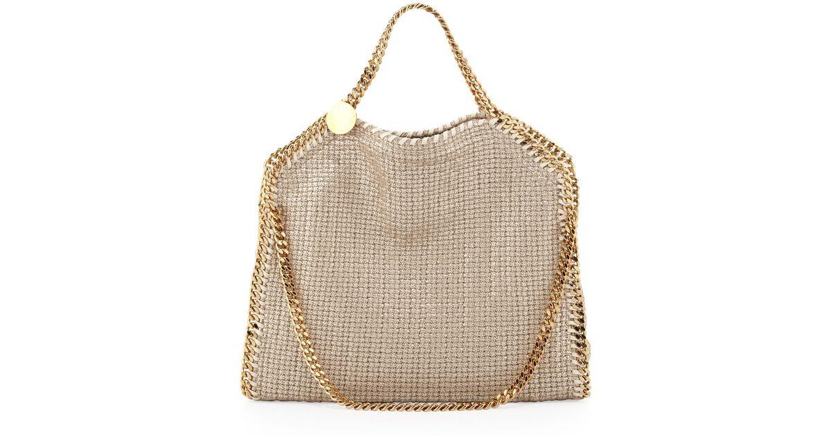 435d900d5c5 Lyst - Stella McCartney Falabella Foldover Shoulder Bag Sand in Natural