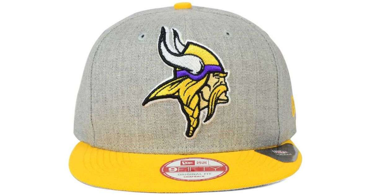 the latest 36042 d53c4 Lyst - Ktz Minnesota Vikings Grand 9fifty Snapback Cap in Gray for Men