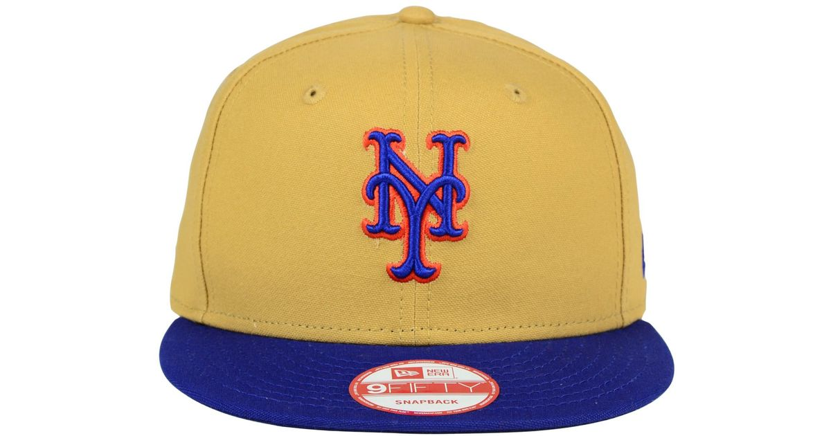 new style 6a2ff 58d84 ... promo code for lyst ktz new york mets classic canvas 9fifty snapback cap  in blue for