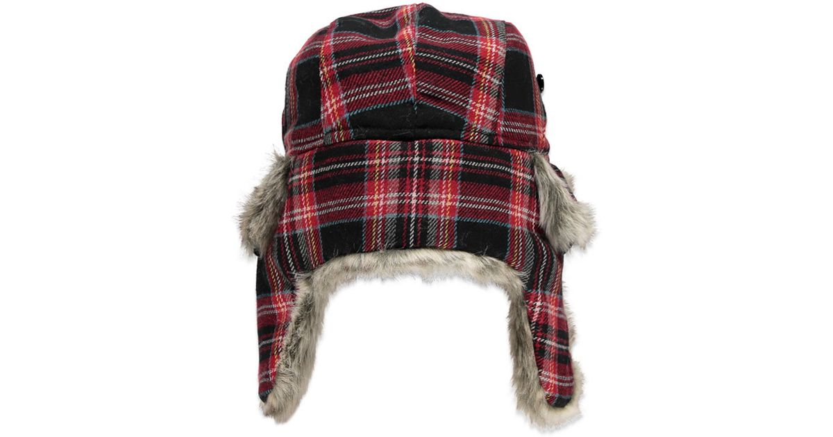 a1ccc62e49618 Forever 21 Tartan Plaid Trapper Hat in Red - Lyst