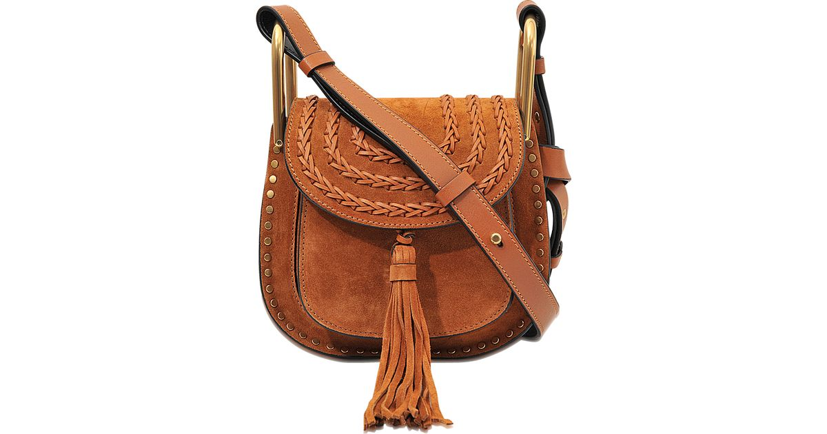 Favori Chloé Hudson Mini Suede Shoulder Bag in Brown | Lyst IW09