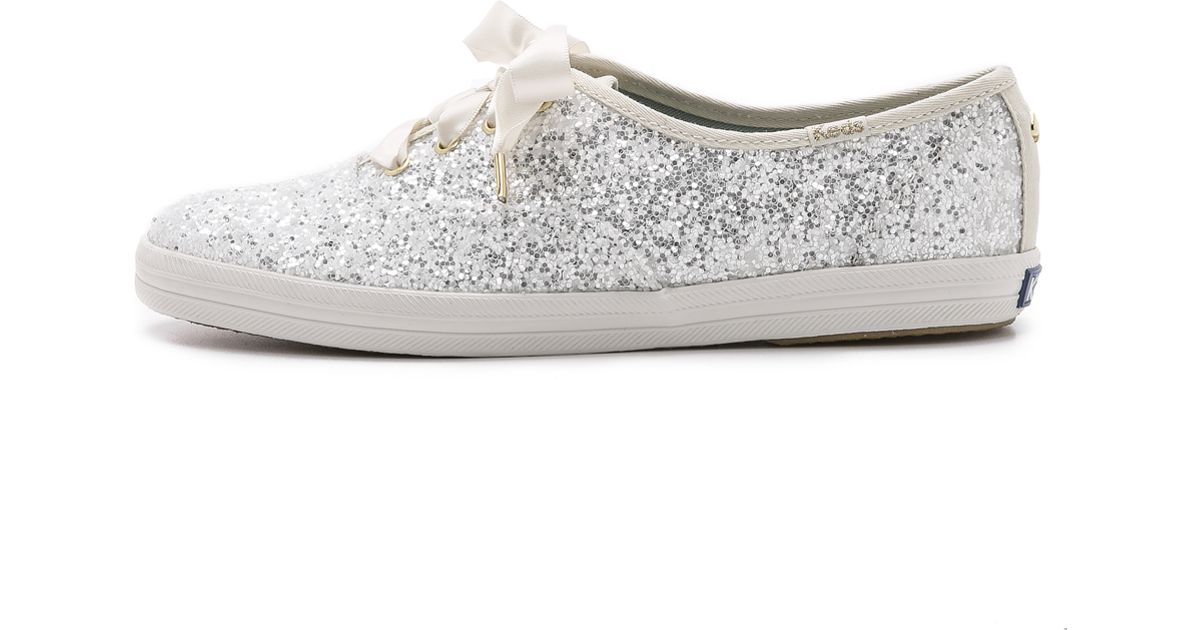 3fcd0605fdcb Lyst - Kate Spade Glitter Keds Sneakers - White in White