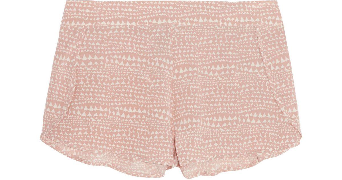 Lyst - Stella Mccartney Ellie Leaping Printed Stretch-Silk Crepe De Chine Pajama  Shorts in Pink 1df8500e6