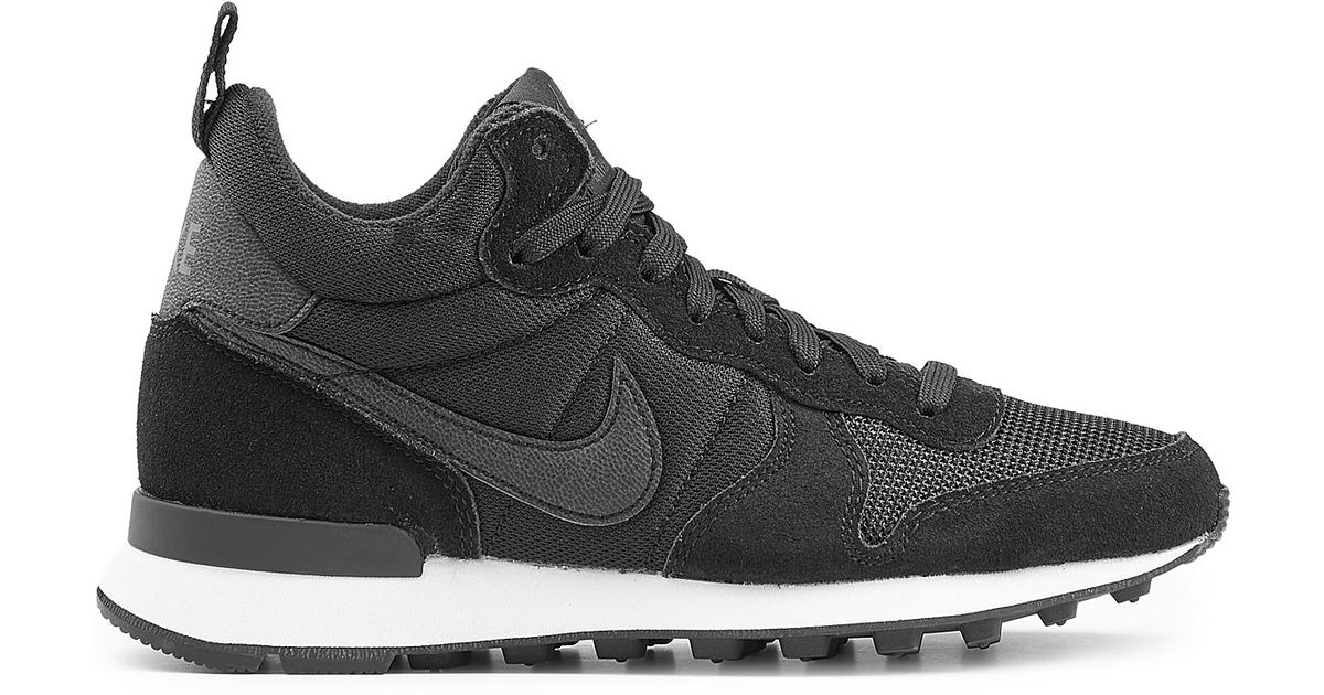4e5ae62557693f ... closeout lyst nike internationalist mid sneakers with leather black in  black 76549 ddece