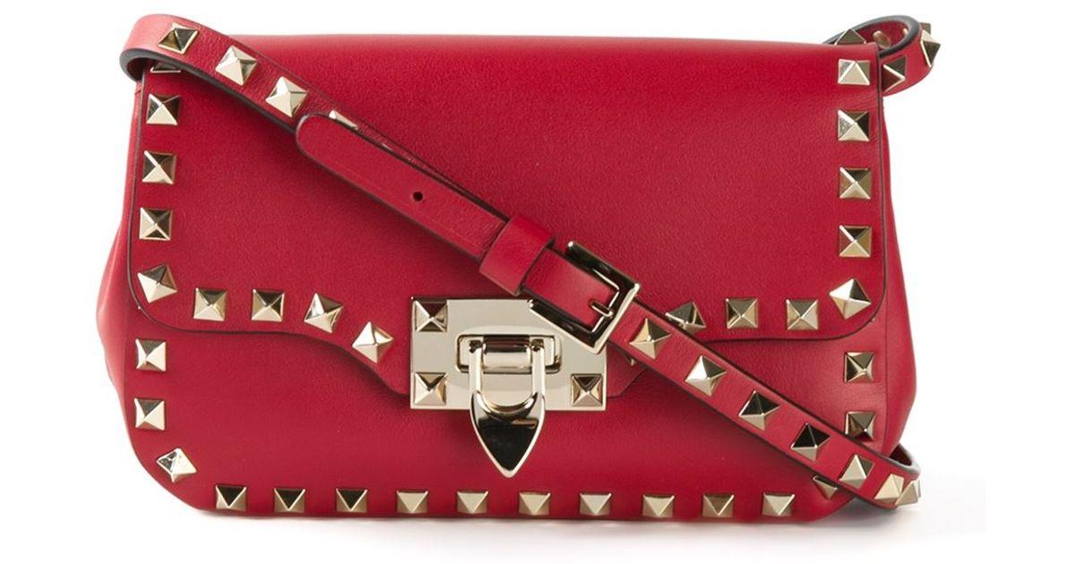 Valentino Garavani Rockstud crossbody bag - Red Valentino jO4Ah969p