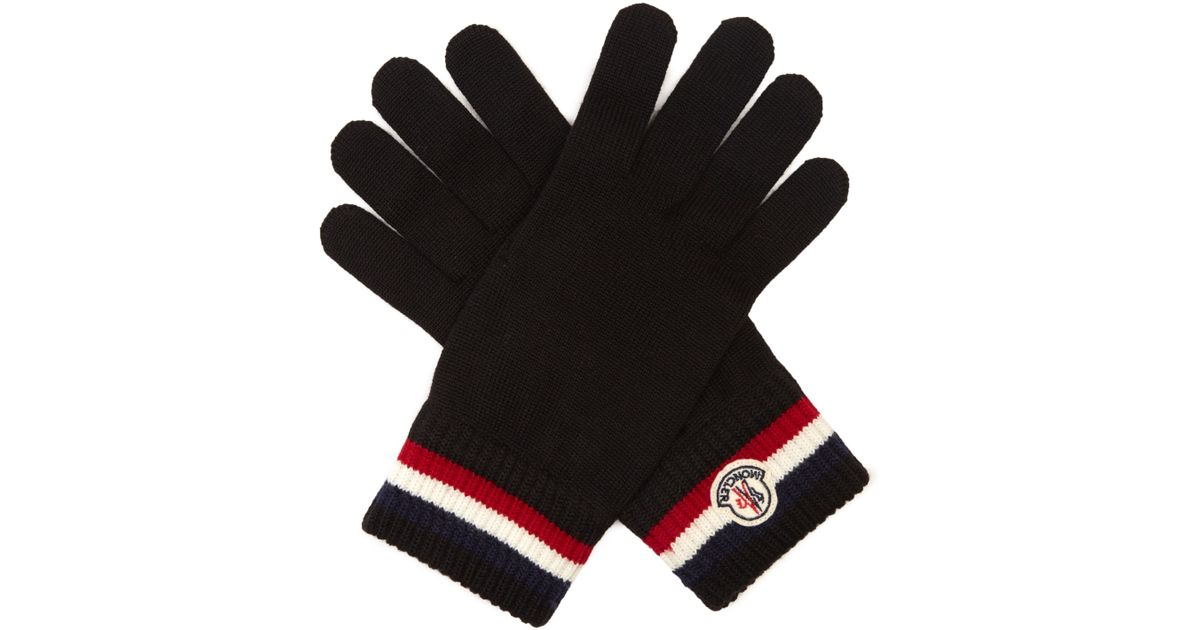 moncler black gloves