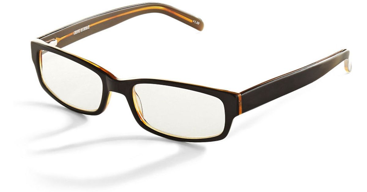 corinne mccormack brian reading glasses in black lyst