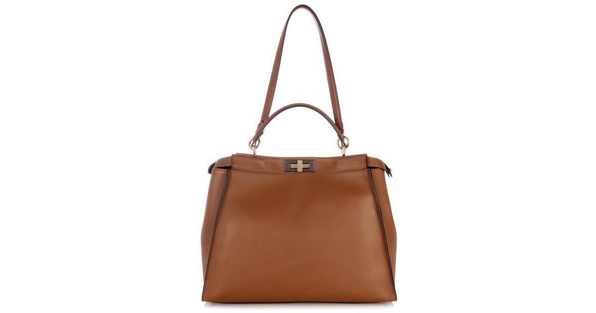791e851fb718 australia fendi spring 2018 bags 21 19d44 9621b  shop lyst fendi peekaboo  grande leather tote in brown 89fa2 6f15d