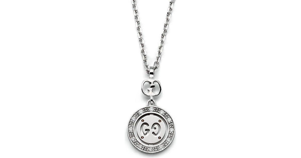 f43dfea65 Gucci Icon Twirl 18ct White-gold And Diamond Necklace in Metallic - Lyst