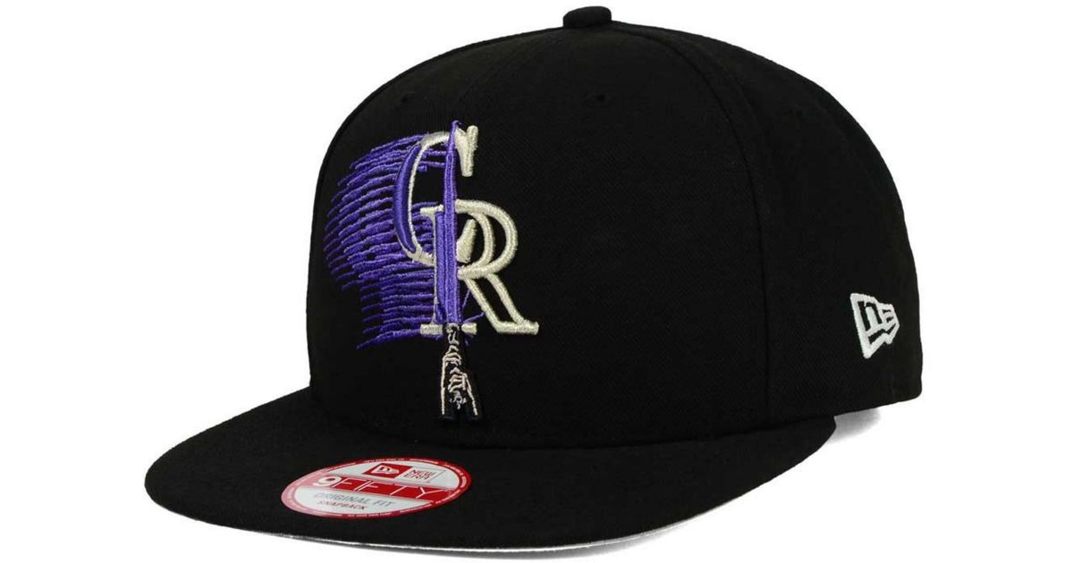 hot sale online f8b0e 39627 KTZ Colorado Rockies Star Wars Logoswipe 9fifty Snapback Cap in Black for  Men - Lyst