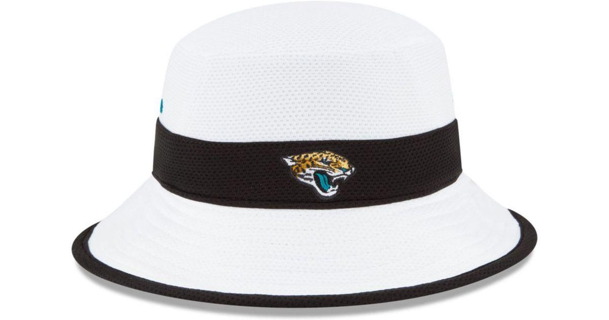 Lyst - KTZ Jacksonville Jaguars Training Camp Official Bucket Hat in White  for Men d278a42a6
