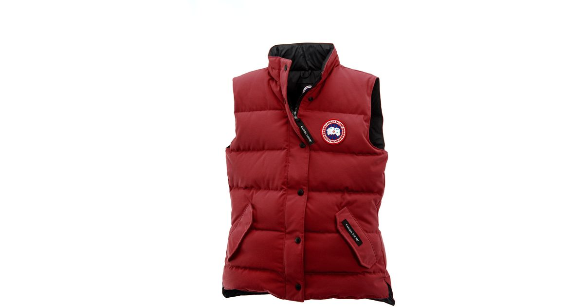 Canada Goose kensington parka sale authentic - Canada goose Freestyle Vest in Red for Men (Redwood) | Lyst