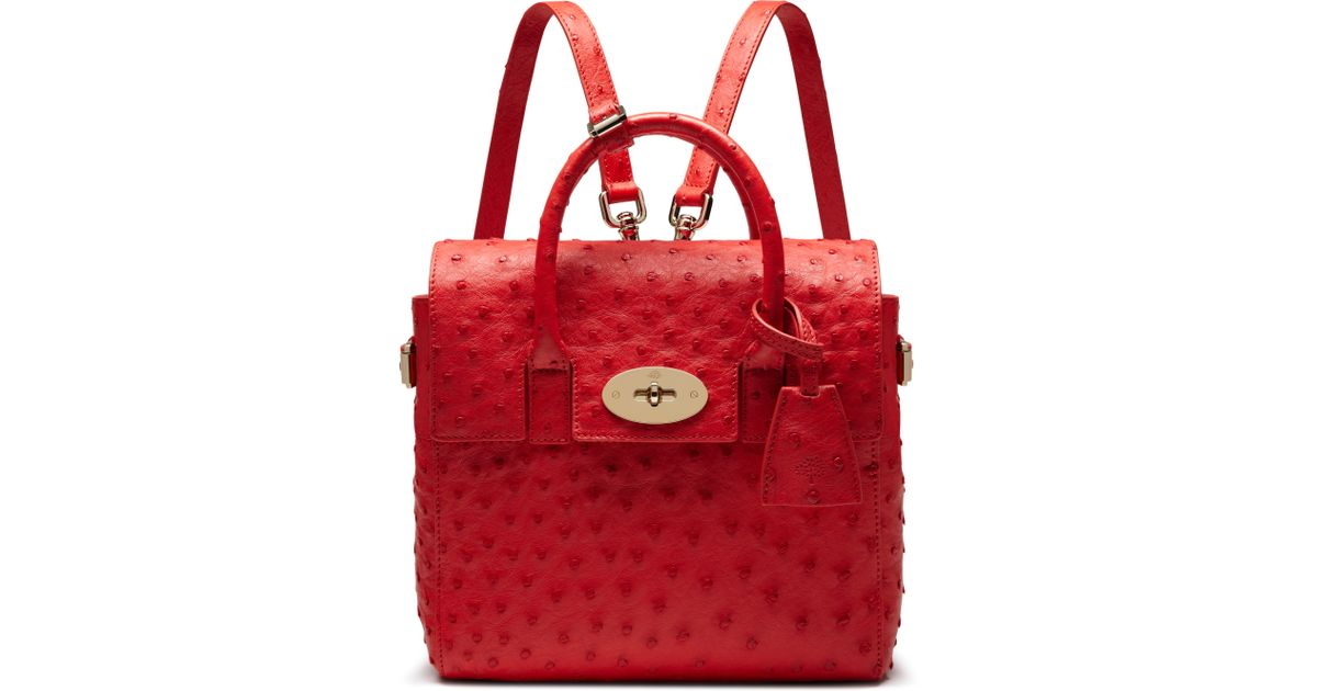 8404e1a502 Lyst - Mulberry Mini Cara Delevingne Bag in Red