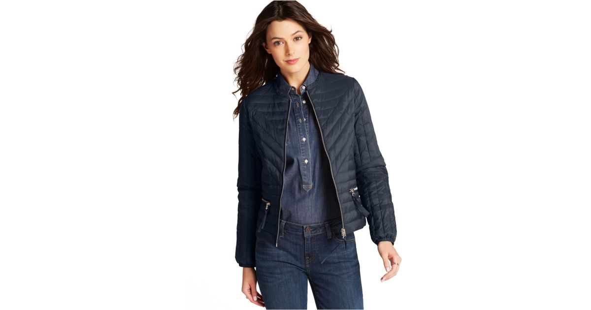Quilted Jacket In Lyst Hilfiger Blue Tommy qtHxEz