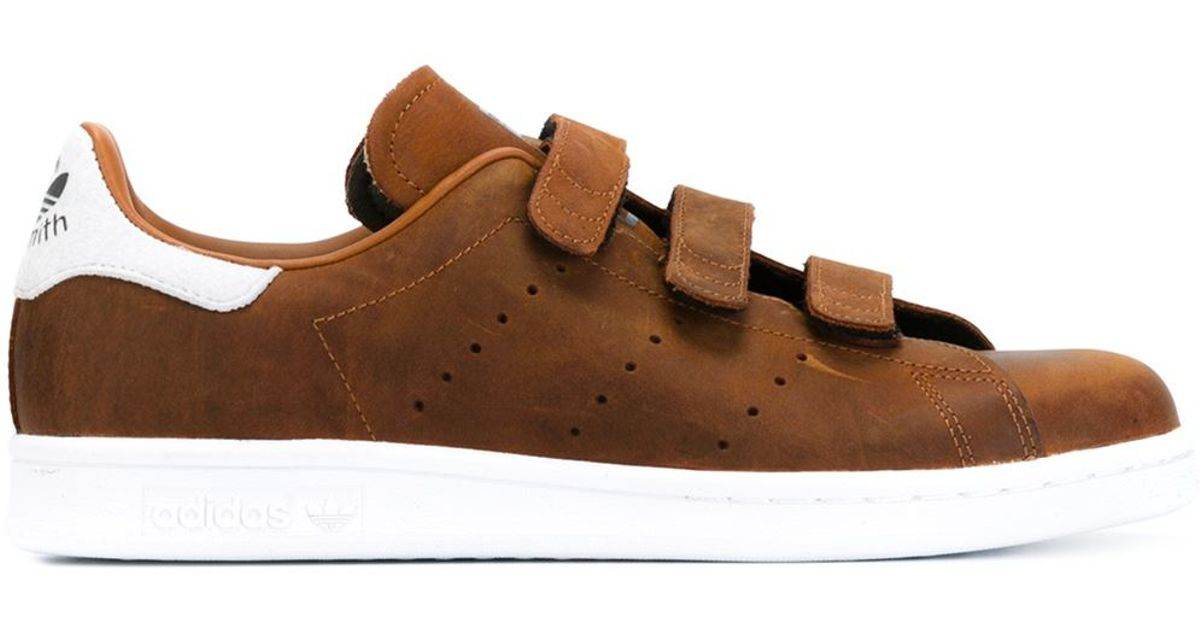 da20abf8a5ef49 Lyst - adidas Originals  stan Smith Cf  Sneakers in Brown for Men