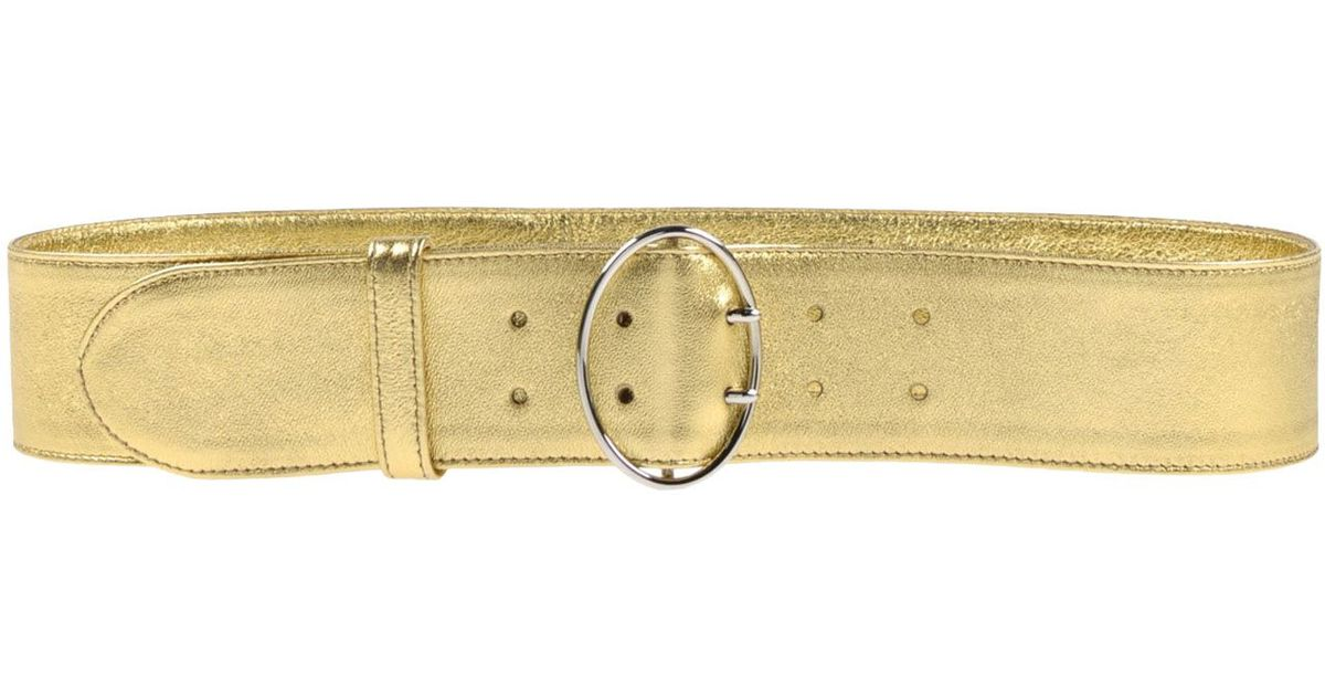 Prada Belt in Gold | Lyst