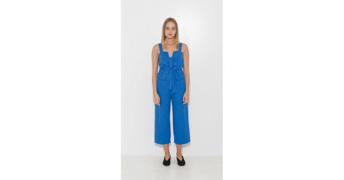 9144fcc159e Lyst - Rachel Comey Bend Jumpsuit in Blue