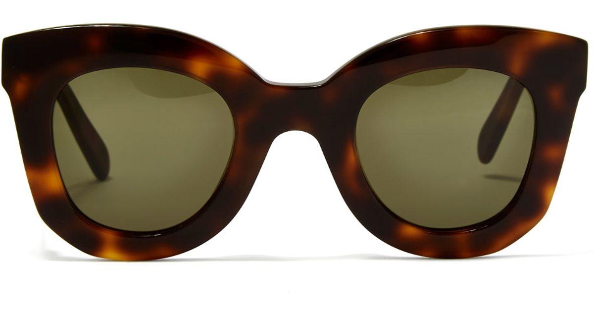 Celine Havana Sunglasses  céline havana brown marta small sunglasses in brown lyst