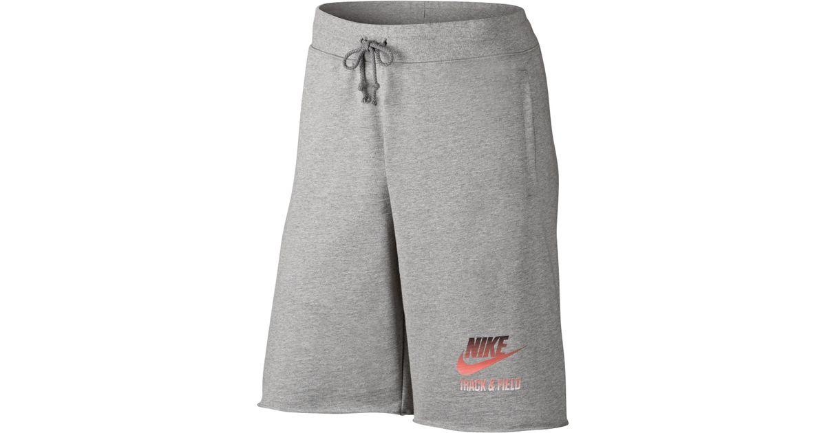 Lyst Track For Gray Running Men Field Nike amp; Alumni Shorts In aHgFapSxq