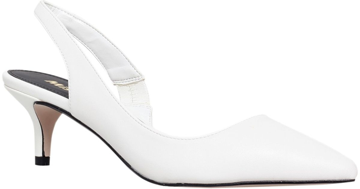 miss kg adelaide kitten heel slingback court shoes in