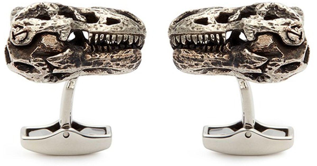 Tateossian Sterling Silver T-Rex Cuff Links uekavnM
