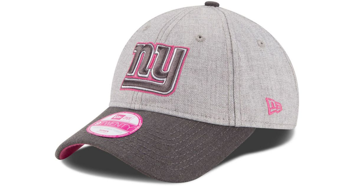 quality design d7852 4a766 usa girls youth new era white pink new york giants scribbled front 9forty  adjustable hat c1d83 bae3a  australia lyst ktz womens new york giants  breast ...