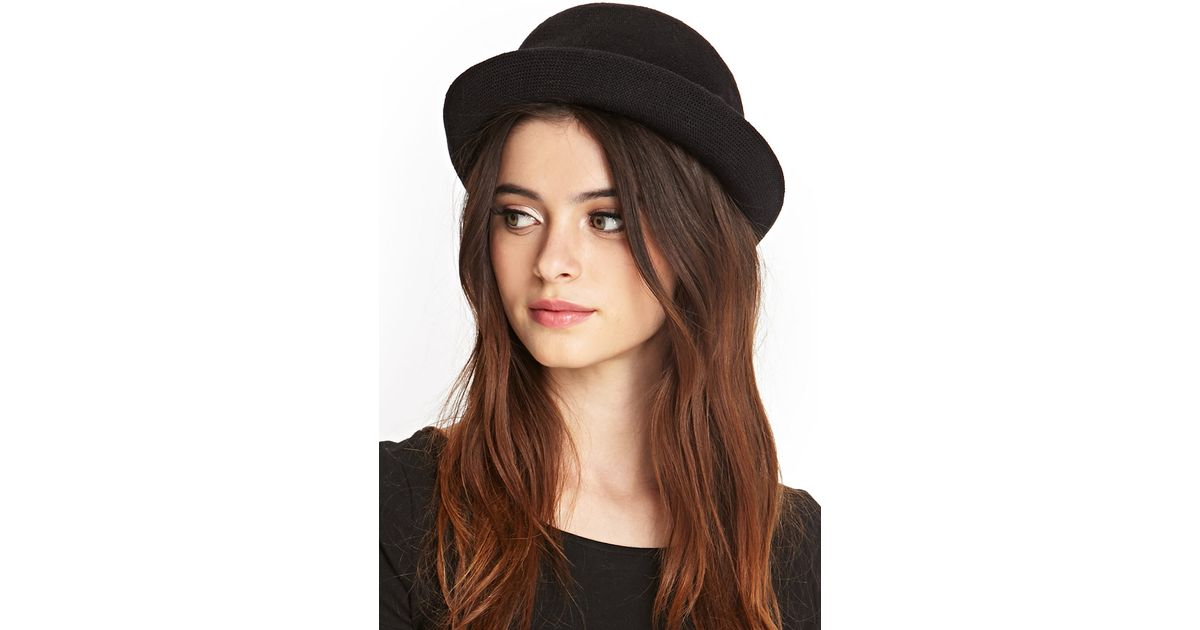 Lyst - Forever 21 Knit Bowler Hat in Black 973d9e9be465