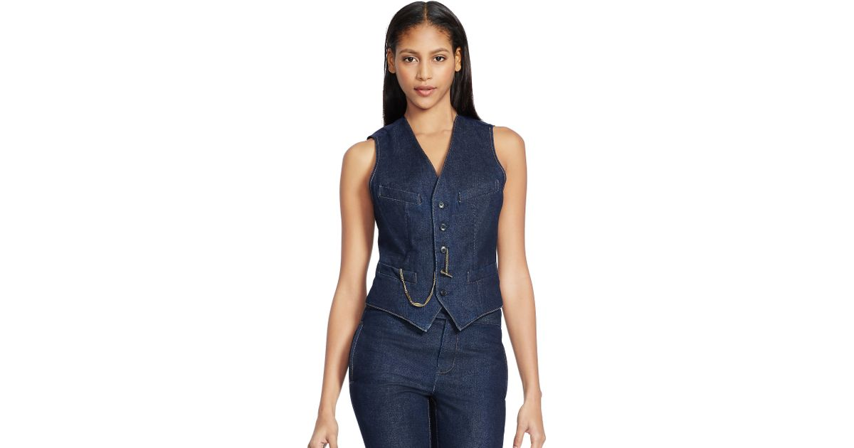 sleeveless jacket ralph lauren ralph lauren denim dress