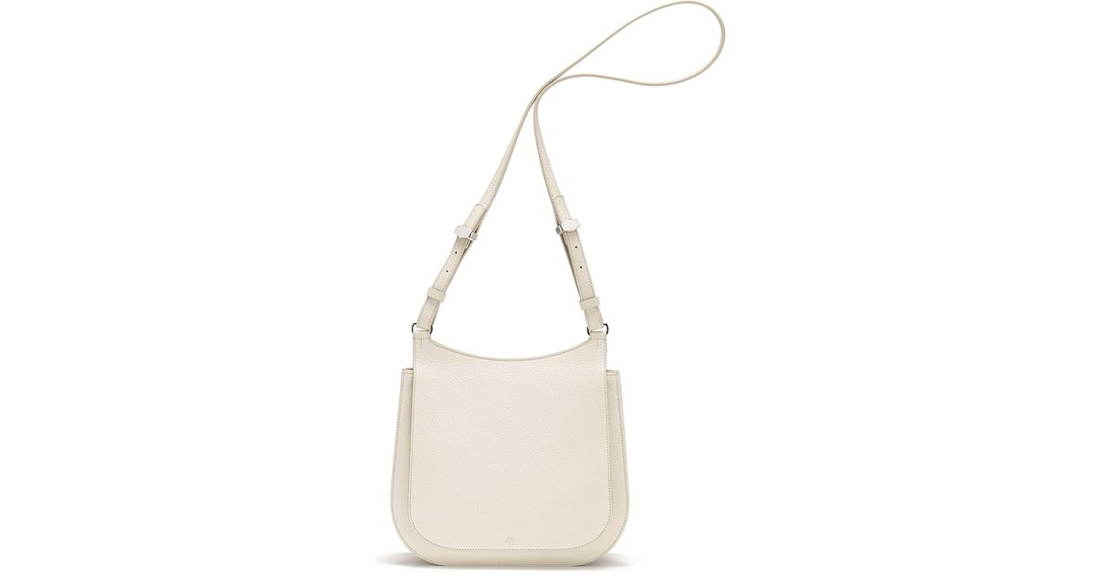 47bb0d4036 Lyst - The Row Hunting 11 Leather Shoulder Bag in Natural