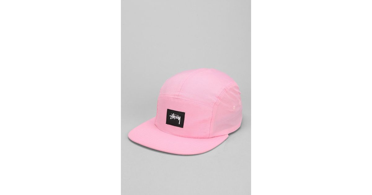 Lyst - Stussy Nylon Neon 5panel Hat in Pink for Men 344bbb7d746