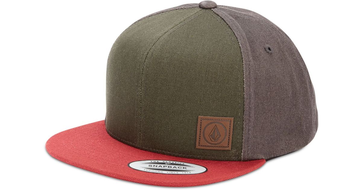 brand new 5c78f 8a249 Lyst - Volcom Nails Colorblocked Snapback Hat in Green for Men