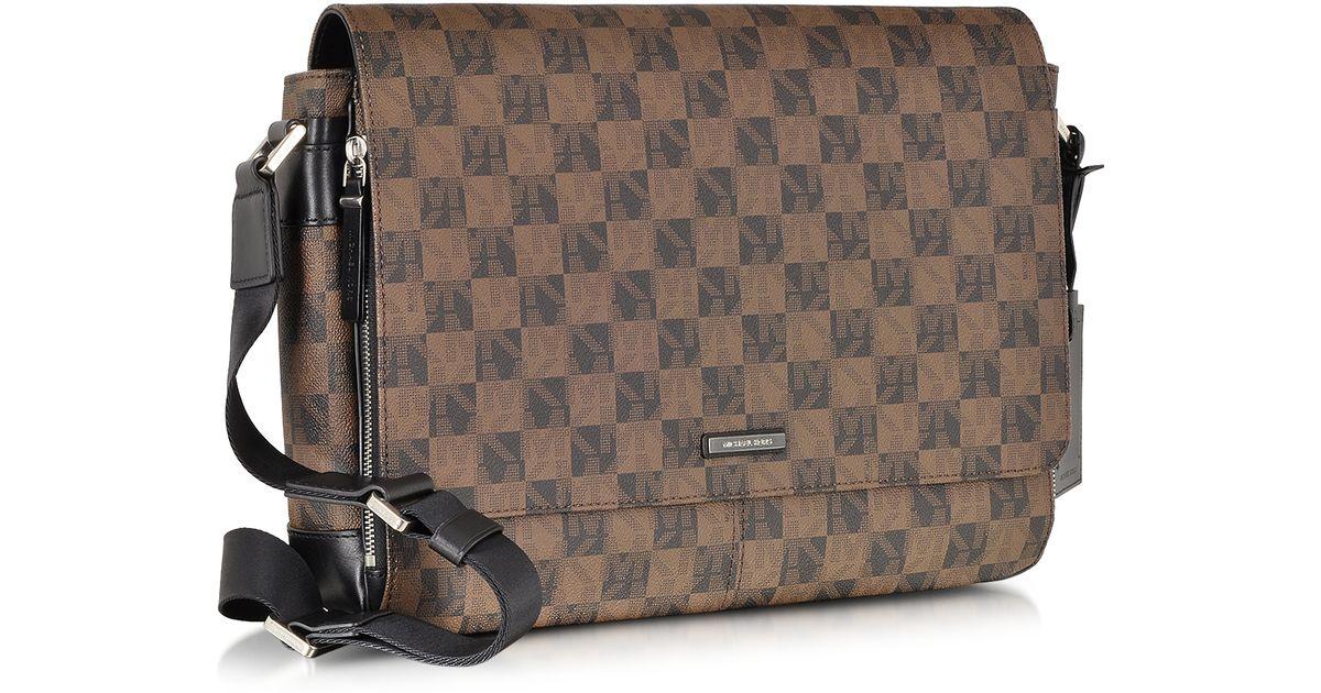 Lyst - Michael Kors Jet Set Mens Logo Large Eco Leather Messenger Bag in  Brown for Men 434b1062d8ee7