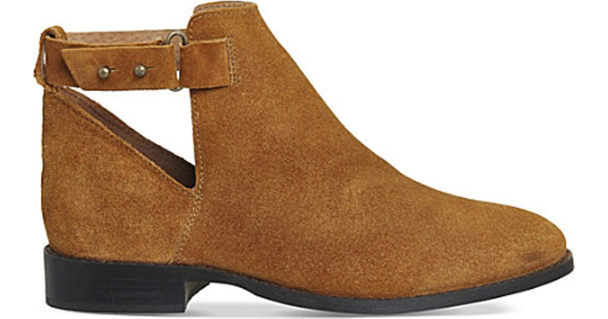office juno suede ankle boots in brown suede lyst