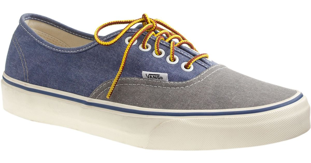 44cad3714ace Lyst - J.Crew Men s Vans Washed Canvas Authentic Sneakers In Two-tone in  Gray for Men