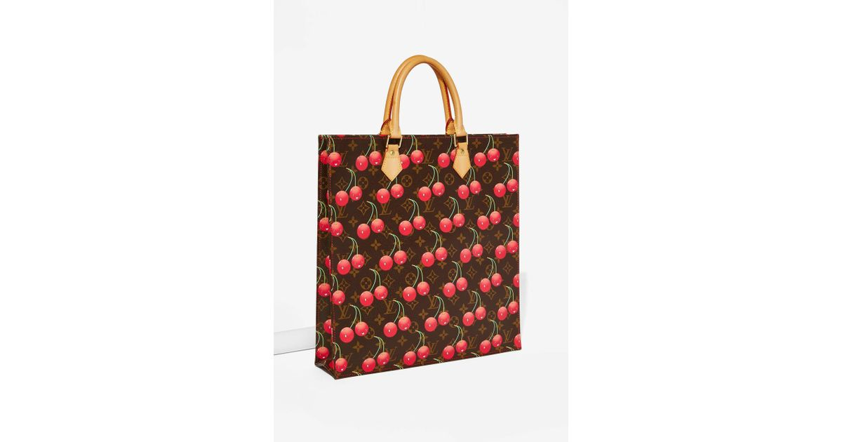 Lyst - Louis Vuitton Vintage Murakami Sac Plat Tote Bag in Red 90a8561f6d78d