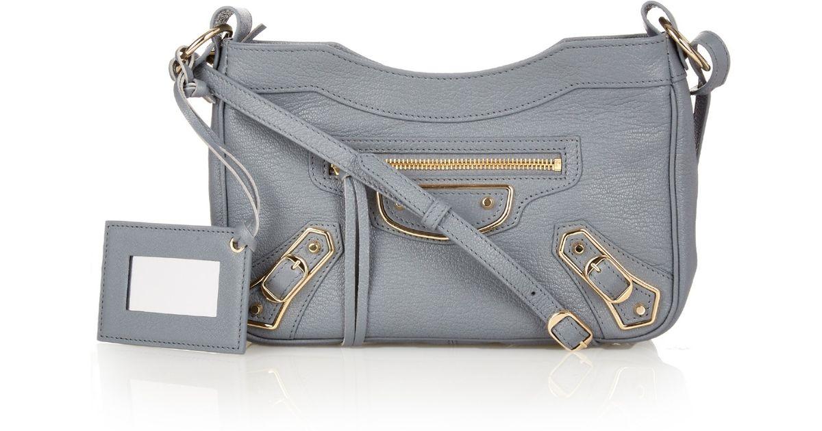6a778290d3 Lyst - Balenciaga Classic Mini City Metallic-Edge Cross-Body Bag in Blue