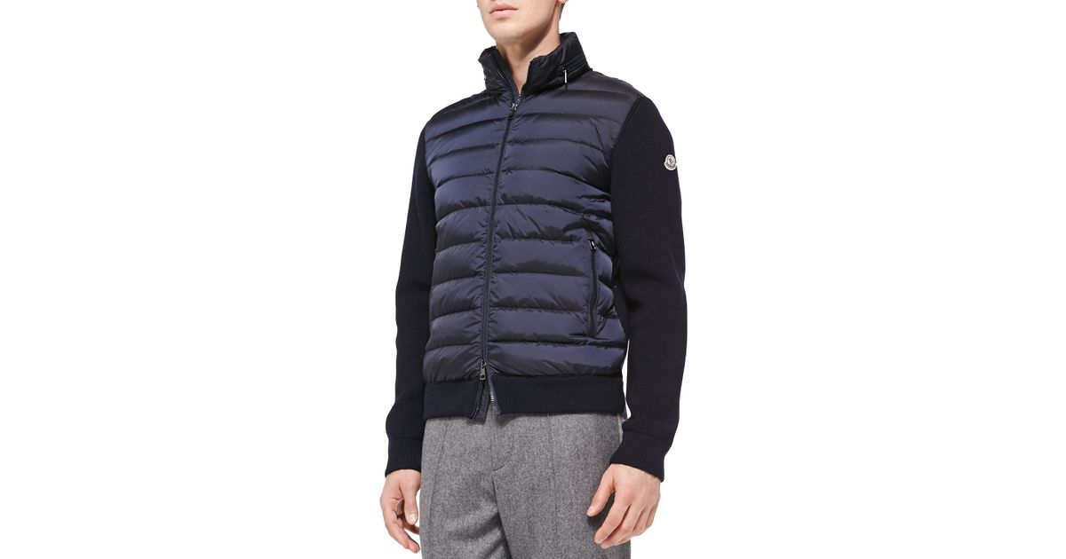 Moncler Quilted Front Ribbed Jacket