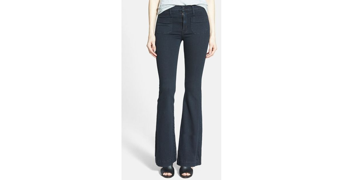4f82022ab14 Lyst - Hudson Jeans 'taylor' High Rise Flare Jeans in Blue