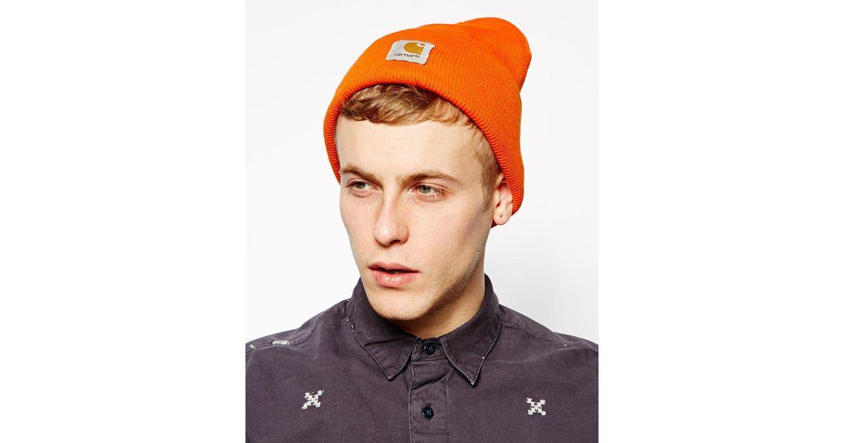 716d2b5bfe121 Lyst Carhartt Acrylic Watch Beanie Hat In Orange For Men