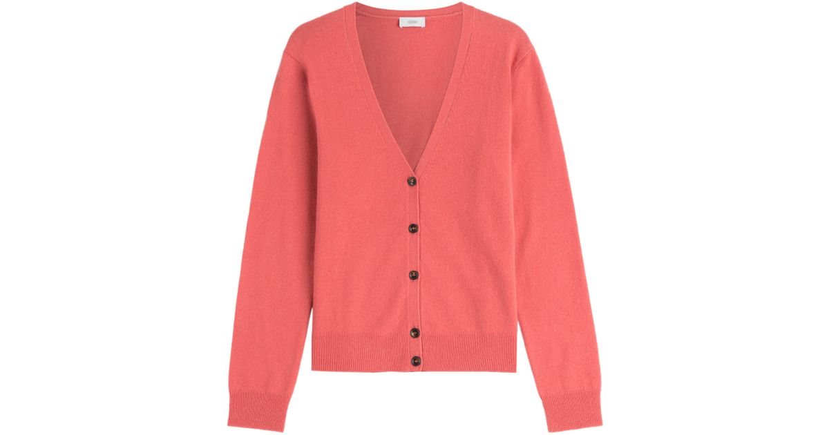 6e9da69ec236 Closed Supreme Cashmere Cardigan - Red in Red - Lyst